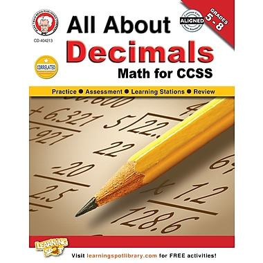 eBook: Mark Twain 404213-EB All About Decimals, Grade 5 - 8