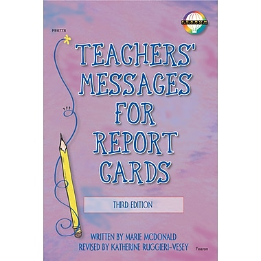 eBook: Fearon 0768224551-EB Teachers' Messages for Report Cards, Grade K - 8