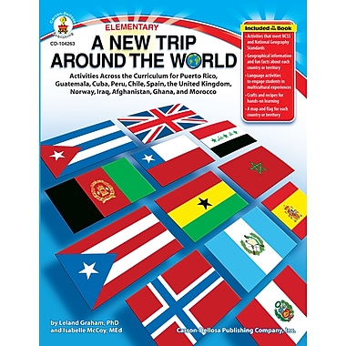 eBook: Carson-Dellosa 104263-EB A New Trip Around the World, Grade K - 5