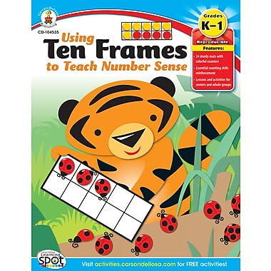 eBook: Carson-Dellosa 104535-EB Using Ten Frames to Teach Number Sense, Grade K - 1