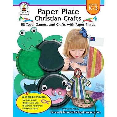 Livre numérique : Paper Plate Christian Crafts 204062-EB, livre chrétien, maternelle à 3e année
