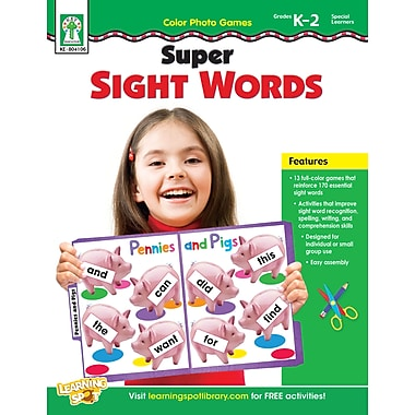 Livre numérique : Key Education 804106-EB Color Photo Games: Super Sight Words, maternelle à 2e année