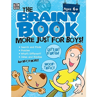 Carson-Dellosa 705005-EB Brainy Book More Just for Boys!, classe maternelle - 5e année