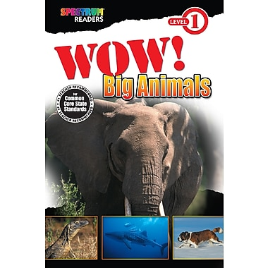 eBook: Spectrum 704320-EB Wow! Big Animals, Grade Preschool - 1