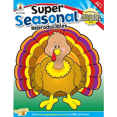eBook: Carson-Dellosa 104782-EB Super Seasonal Reproducibles, Grade PK - 1
