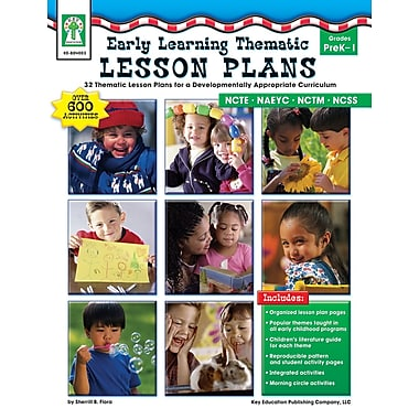 eBook: Key Education 804003-EB Early Learning Thematic Lesson Plans, Grade PK - 1