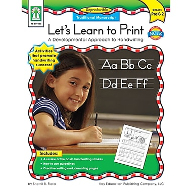 eBook: Key Education 804006-EB Let's Learn to Print: Traditional Manuscript, Grade PK - 2
