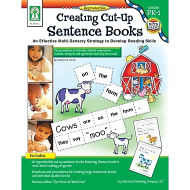 eBook: Key Education 804013-EB Creating Cut-Up Sentence Books, Grade PK - 1