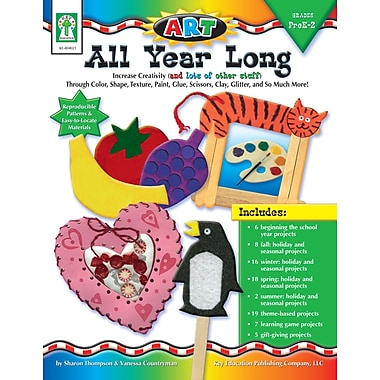 Livre numérique : Key Education� -- ART All Year Long 804021-EB, prématernelle à 2e année