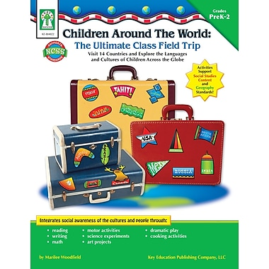 Livre numérique: Key Education�--Children Around the World: The Ultimate Class Field Trip 804022-EB, prématernelle à 2e année