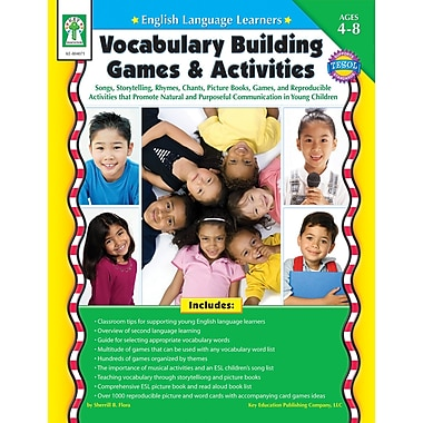 Livre numérique: Key Education�--English Language Learners: Vocabulary Building Games & Activities 804071-EB, prémat. à 3e ann.