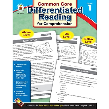 Livre numérique : Carson-Dellosa� -- Differentiated Reading for Comprehension 104613-EB, 1re année