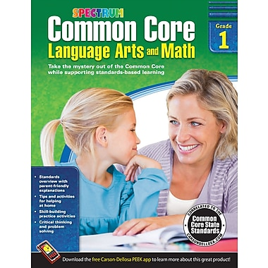 eBook: Spectrum 704501-EB Common Core Language Arts and Math, Grade 1