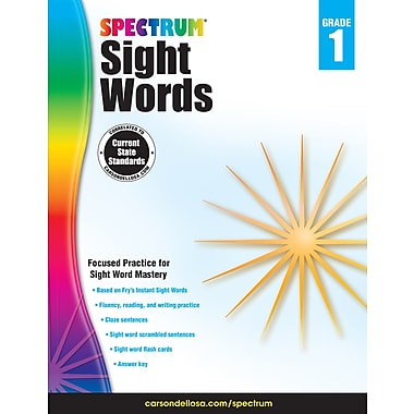 eBook: Spectrum 704615-EB Spectrum Sight Words, Grade 1