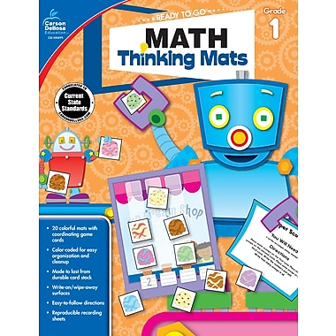 Carson-Dellosa 104899-EB Math Thinking Mats, 1re année