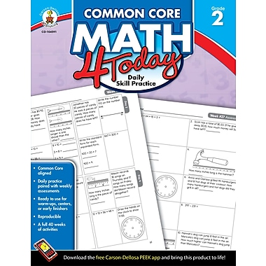 Livre numérique : Carson-Dellosa� -- Common Core Math 4 Today 104591-EB, 2e année
