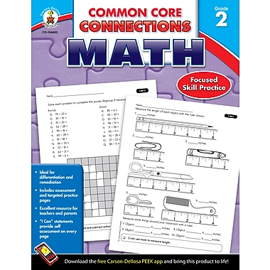 eBook: Carson-Dellosa 104603-EB Common Core Connections Math, Grade 2