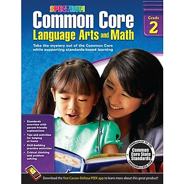 eBook: Spectrum 704502-EB Common Core Language Arts and Math, Grade 2