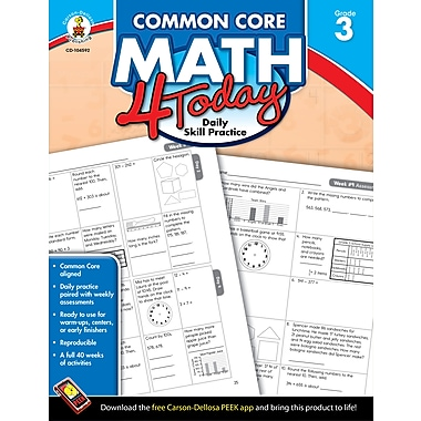 eBook: Carson-Dellosa 104592-EB Common Core Math 4 Today, Grade 3