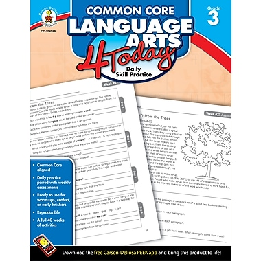 eBook: Carson-Dellosa 104598-EB Common Core Language Arts 4 Today, Grade 3