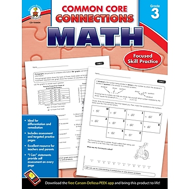 eBook: Carson-Dellosa 104604-EB Common Core Connections Math, Grade 3