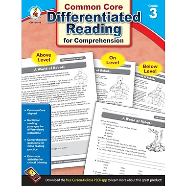 Livre numérique : Carson-Dellosa� -- Differentiated Reading for Comprehension 104615-EB, 3e année