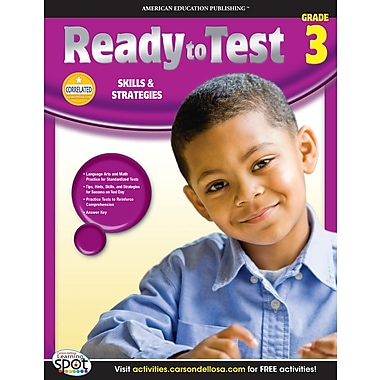 eBook: American Education Publishing 704124-EB Ready to Test, Grade 3