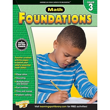 eBook: American Education Publishing 704278-EB Math Foundations, Grade 3