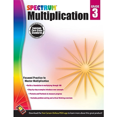 eBook: Spectrum 704507-EB Multiplication, Grade 3