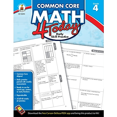 eBook: Carson-Dellosa 104593-EB Common Core Math 4 Today, Grade 4