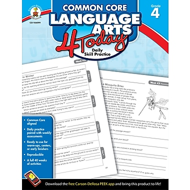 eBook: Carson-Dellosa 104599-EB Common Core Language Arts 4 Today, Grade 4