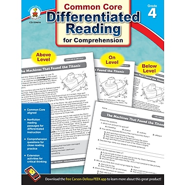 eBook: Carson-Dellosa 104616-EB Differentiated Reading for Comprehension, Grade 4
