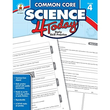 eBook: Carson-Dellosa 104815-EB Common Core Science 4 Today, Grade 4