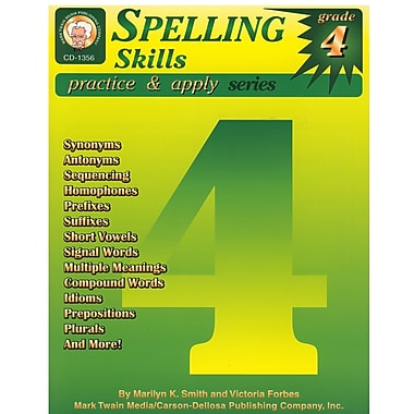 Livre numérique : Mark Twain 1356-EB Spelling Skills, 4e année