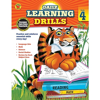 eBook: Brighter Child 704395-EB Daily Learning Drills, Grade 4