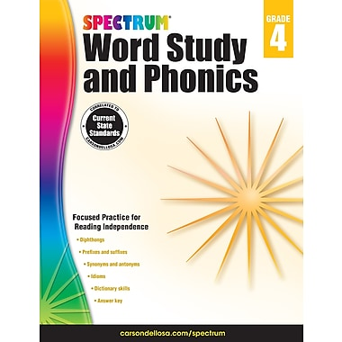 eBook: Spectrum 704607-EB Spectrum Word Study and Phonics, Grade 4