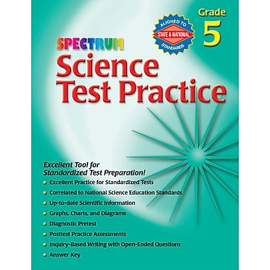eBook: Spectrum 0769680658-EB Science Test Practice, Grade 5