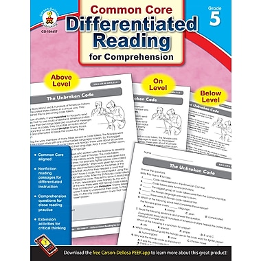 eBook: Carson-Dellosa 104617-EB Differentiated Reading for Comprehension, Grade 5