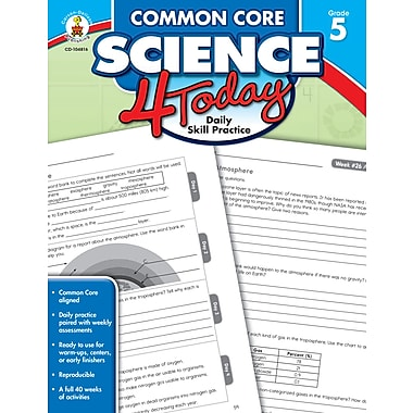 eBook: Carson-Dellosa 104816-EB Common Core Science 4 Today, Grade 5