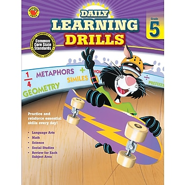 eBook: Brighter Child 704396-EB Daily Learning Drills, Grade 5