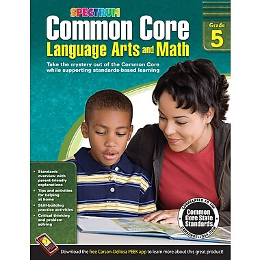 eBook: Spectrum 704505-EB Common Core Language Arts and Math, Grade 5