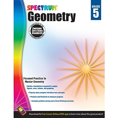 eBook: Spectrum 704512-EB Geometry, Grade 5
