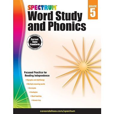 eBook: Spectrum 704608-EB Spectrum Word Study and Phonics, Grade 5