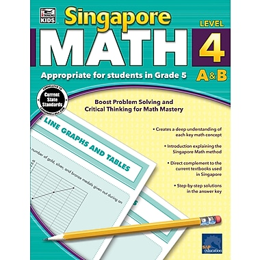 eBook: Thinking Kids 704682-EB Singapore Math, Grade 5