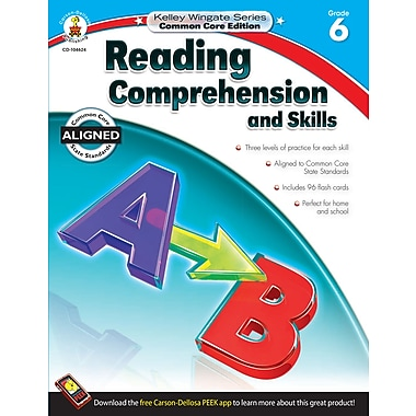 Livre numérique : Carson-Dellosa� -- Reading Comprehension and Skills 104624-EB, 6e année