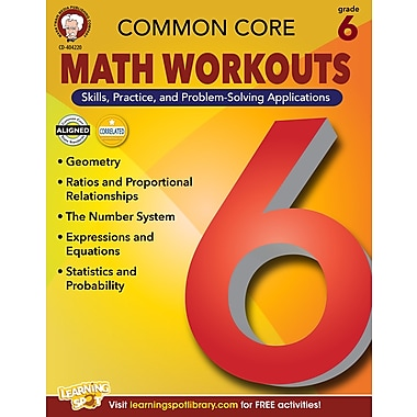 eBook: Mark Twain 404220-EB Common Core Math Workouts, Grade 6