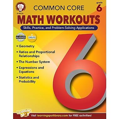 Livre numérique : Mark Twain 404220-EB Common Core Math Workouts, 6e année