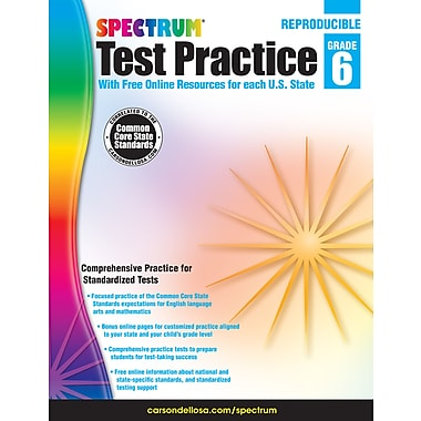 Livre numérique : Spectrum 704252-EB Spectrum Test Practice, 6e année