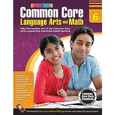 eBook: Spectrum 704506-EB Common Core Language Arts and Math, Grade 6