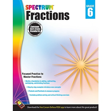 eBook: Spectrum 704513-EB Fractions, Grade 6